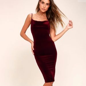 burgundy velvet lulus cocktail dress